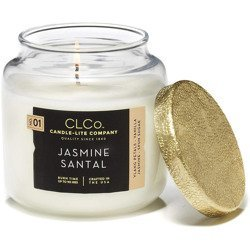 Candle-lite CLCo Candle Jar luxury scented candle 14 oz 396 g - No. 01 Jasmine Santal