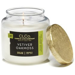 Candle-lite CLCo Candle Jar luxury scented candle 14 oz 396 g - Vetiver Oakmoss