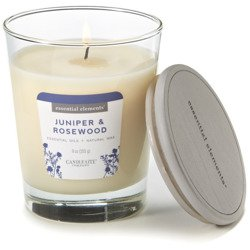 Candle-lite Essential Elements Glass Natural Scented Candle 9 oz 255 g - Juniper & Rosewood