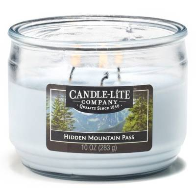 Candle-lite Everyday Collection 3 Wick Terrace Jar Glass Scented Candle 10 oz 283 g - Hidden Mountain Pass