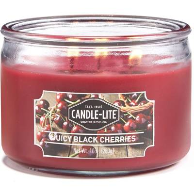 Candle-lite Everyday Collection 3 Wick Terrace Jar Glass Scented Candle 10 oz 283 g - Juicy Black Cherries