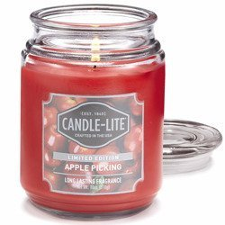 Candle-lite Everyday Collection Large Terrace Jar Glass Scented Candle 18 oz 145/100 mm 510 g ~ 110 h - Apple Picking