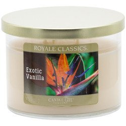 Candle-lite Royale Classics 11.5 oz 3-wick scented candle 326 g - Exotic Vanilla