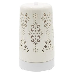 Doha ceramic white aroma diffuser ultrasonic fragrance lamp changing colors